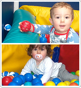 The soft play room at Abacus Day Nursery
